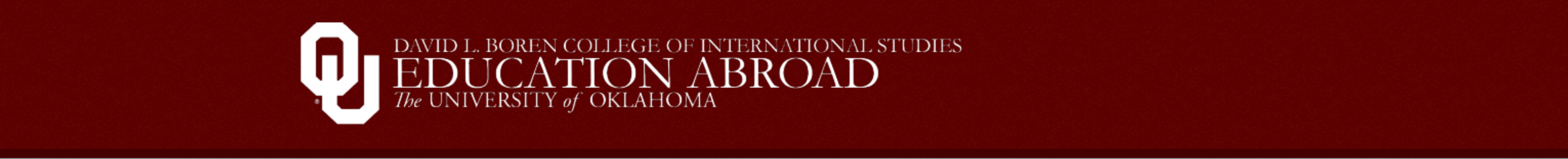 Education Abroad - The University of Oklahoma